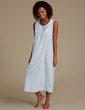 Dobby Built-up Shoulder Nightdress