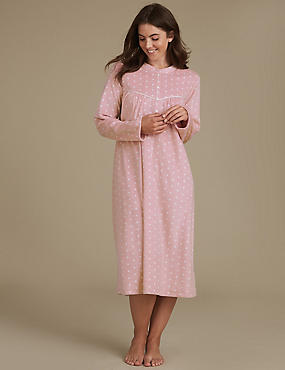 Fleece Spotted Nightdress