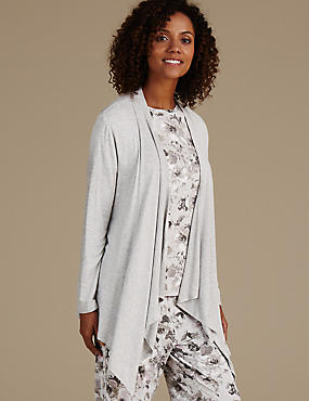 Jersey Waterfall Wrap Dressing Gown