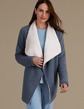 Cotton Rich Jersey Waterfall Wrap