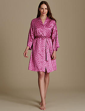 Satin Long Sleeve Dressing Gown