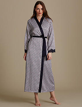 Geometric Print Dressing Gown