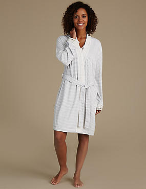 Modal Blend Crochet Trim Dressing Gown