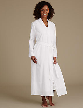 Pure Cotton Embroidered Dressing Gown