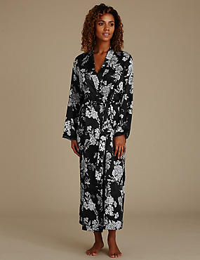 Floral Satin Long Wrap