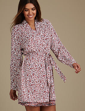 Folk Print Dressing Gown