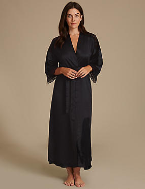 Satin Wrap Dressing Gown