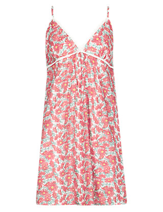 Floral Chemise with Modal Clothing