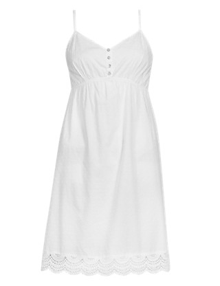 Pure Cotton Dobby Spotted Chemise Clothing