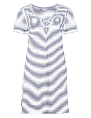 Pure Cotton Striped Minishirt with Cool Comfort™ Technology Clothing