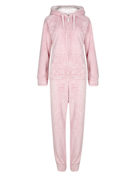 Hooded Sparkle Fleece Onesie