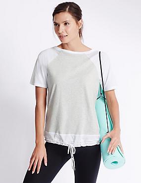 Bubble Mesh T-Shirt, GREY MIX, catlanding