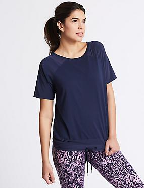 Bubble Mesh T-Shirt, DARK MIDNIGHT, catlanding