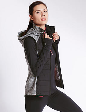 Padded Gilet Set with Top & Leggings Set