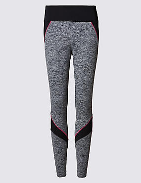 Pink Trim Jaspe Leggings