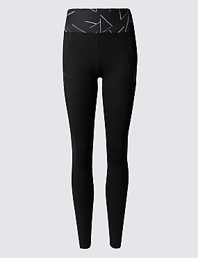 Strobe Print High Waist Leggings