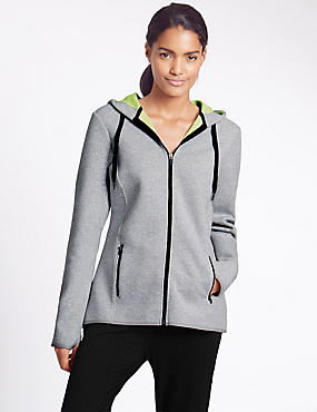 Cotton Rich Round Neck Bonded Hoodie with StayNEW™