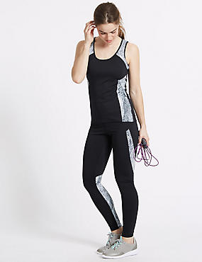 Printed High Waist Leggings with Cool Comfort™ Technology