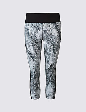 Printed Cropped Leggings with Cool Comfort™ Technology