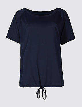 Tie Front Short Sleeve T-Shirt