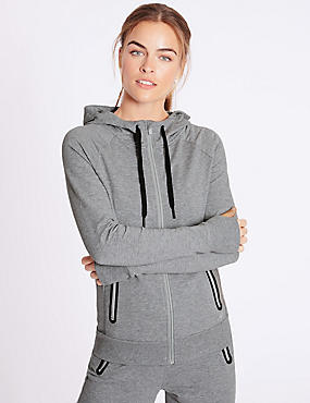 Cotton Rich Hooded Top