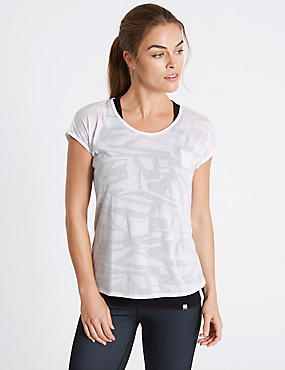 Printed Double Layer Sports T-Shirt