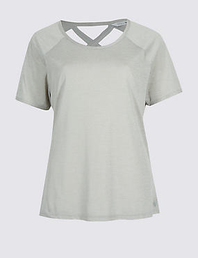 Crossback T-Shirt, GREY MARL, catlanding