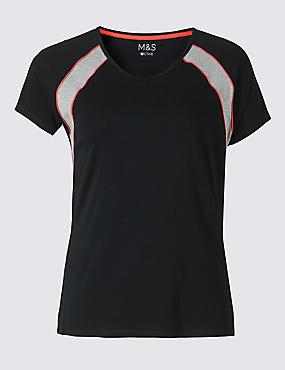 PLUS Active Cotton Rich T-Shirt, BLACK MIX, catlanding