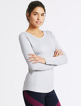 Quick Dry Long Sleeve Top, SILVER GREY, catlanding