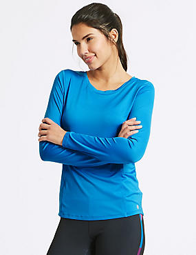 Quick Dry Long Sleeve Top, CHINA BLUE, catlanding
