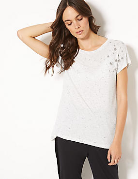 Quick Dry Textured Short Sleeve Top, LIGHT GREY MIX, catlanding