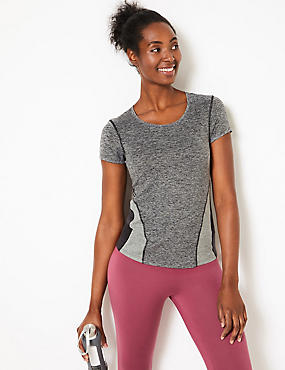 Jaspe Quick Dry Short Sleeve Top, GREY MIX, catlanding