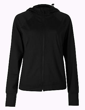 Quick Dry Long Sleeve Jacket, BLACK, catlanding