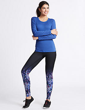 Spliced Ombre Graduated Leggings