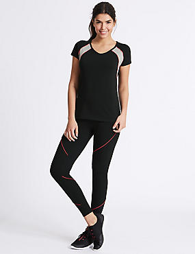 Active Cotton Rich Leggings, BLACK MIX, catlanding
