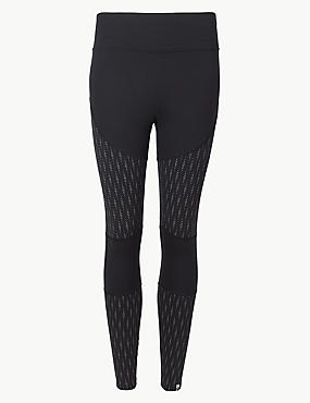 Quick Dry Printed Leggings, BLACK MIX, catlanding