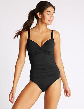 Secret Slimming™ Non-Wired Swimsuit, BLACK, catlanding