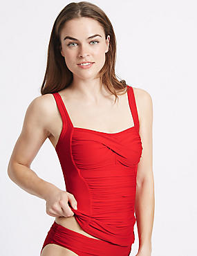 Twisted Ruched Tankini Top