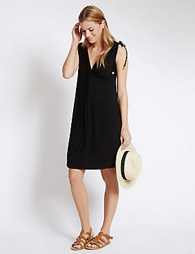 Knot Front Sleeveless Beach Dress