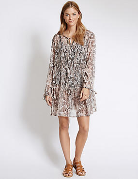 Animal Print Embellished Kaftan