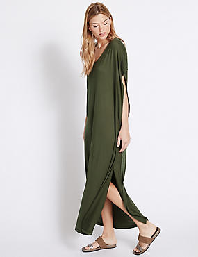 Angel Sleeve Maxi Dress