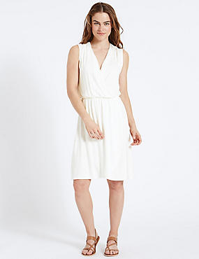 Cross Over Wrap Dress