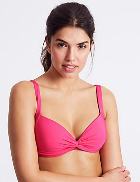 Padded Bikini Top, PINK, catlanding