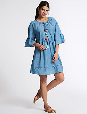 Pure Cotton Tassel Cover Up