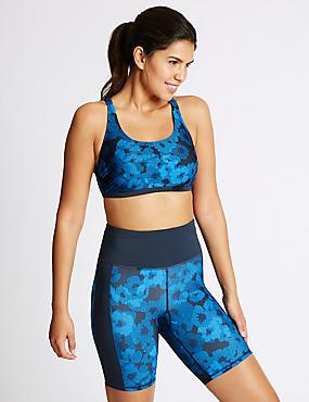 Floral Print Swim Shorts , NAVY MIX, catlanding