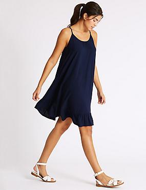 Strappy Beach Dress, NAVY, catlanding