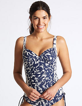 Secret Slimming™ Horizon Print Tankini Top
