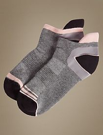 2 Pair Pack Sports Trainer Liner Socks