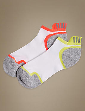 2 Pair Pack High Impact Trainer Liner Socks