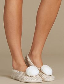 Pom Pom Ballet Slipper Socks